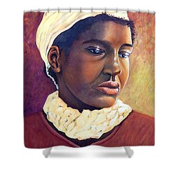 Pensive Contemplation Shower Curtain by Caroline Street