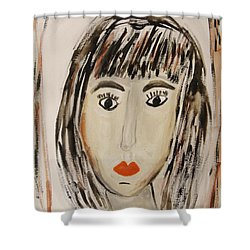 Pensive M.  Shower Curtain by Mary Carol Williams
