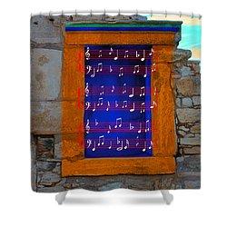 Pentagram Window At Apollo Shower Curtain by Augusta Stylianou