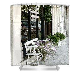 Pentunia Bench Shower Curtain
