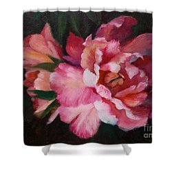 Peonies No 8 The Painting Shower Curtain