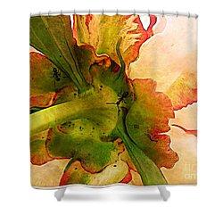 Peony Flirt Shower Curtain by Jolanta Anna Karolska
