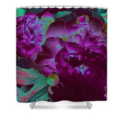 Peony Passion Shower Curtain by First Star Art