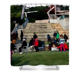 People In The Park Shower Curtain