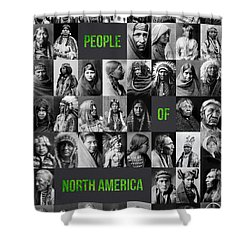 People Of North America Shower Curtain by Aged Pixel