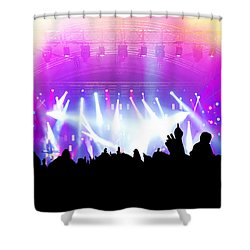 People On Music Concert Disco Party Shower Curtain by Michal Bednarek