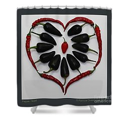 Pepper Heart Shower Curtain