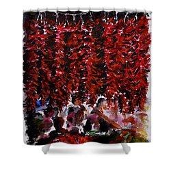 Pepper Shower Curtain by Zaira Dzhaubaeva