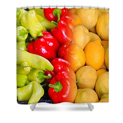 Peppers To Pucker Shower Curtain