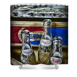 Pepsi Bottles And Crates Shower Curtain