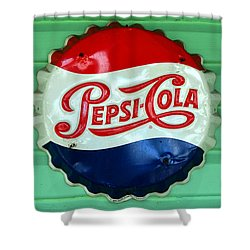Pepsi Cap Shower Curtain by David Lee Thompson