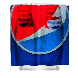 Pepsi Cola Shower Curtain by Dan Sproul