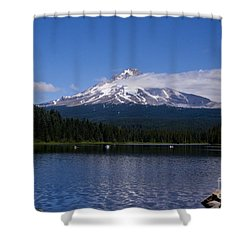 Perfect Day At Trillium Lake Shower Curtain