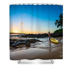 Perfect Ending - Beautiful And Secluded Secret Beach In Maui Shower Curtain