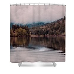 Perfectly Cloudy Lake Shower Curtain by Omaste Witkowski