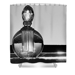 Shower Curtain featuring the photograph Perfume Bottle Inversion by Lilliana Mendez