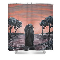 Perils Of Perdition Shower Curtain by Michael  TMAD Finney