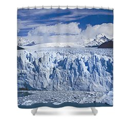 Shower Curtain featuring the photograph Perito Moreno Glacier Argentina by Rudi Prott
