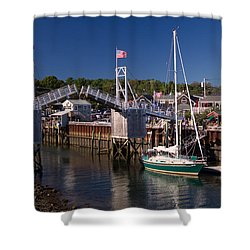 Perkins Cove Ogunquit Maine Shower Curtain