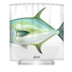 Permit Shower Curtain by Charles Harden