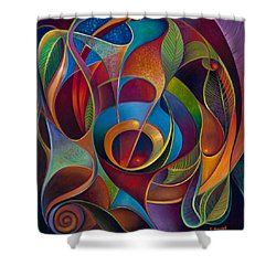 Perplexity Shower Curtain by Claudia Goodell
