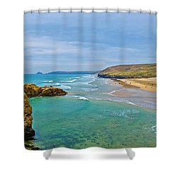 Perranporth Beach Shower Curtain