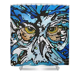 Shower Curtain featuring the painting Perry by Nicole Gaitan