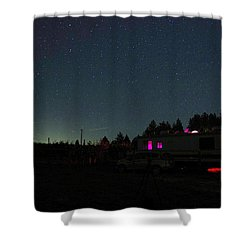 Perseid Meteor-julian Night Lights Shower Curtain