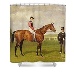 Persimmon Winner Of The 1896 Derby Shower Curtain by Emil Adam