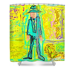 Person Shower Curtain