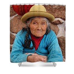 Peruvian Beauty Shower Curtain by Ramona Johnston