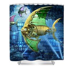 Pescatus Mechanicus Shower Curtain by Ciro Marchetti