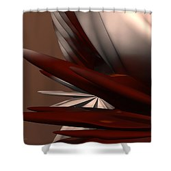 Petals And Stone 2 Shower Curtain by Judi Suni Hall