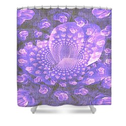 Petals Down The Rabbit Whole Shower Curtain by Amanda Eberly-Kudamik