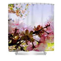 Petals In The Wind Shower Curtain by Robyn King