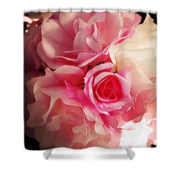 Petals Shower Curtain by Les Cunliffe