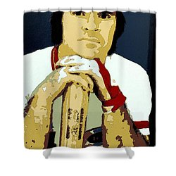 Pete Rose Poster Art Shower Curtain