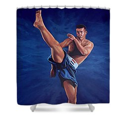 Peter Aerts  Shower Curtain by Paul Meijering