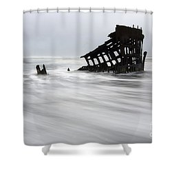 Peter Iredale Shipwreck Oregon 2 Shower Curtain