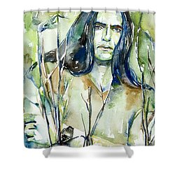 Peter Steele Portrait.1 Shower Curtain by Fabrizio Cassetta