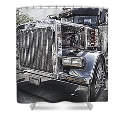 Peterbilt 2005 Shower Curtain by Theresa Tahara