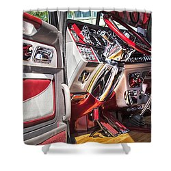 Peterbilt Interior Shower Curtain by Theresa Tahara