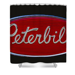 Peterbilt Semi Truck Logo Emblem Shower Curtain