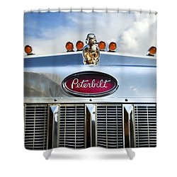 Peterbilt Shower Curtain by Theresa Tahara