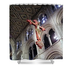 Shower Curtain featuring the photograph Peterborough Cathedral England by Jolanta Anna Karolska