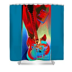 Shower Curtain featuring the photograph Pete's Guitar by PJ Boylan