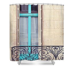 Petit - Parisian Balcony  Shower Curtain