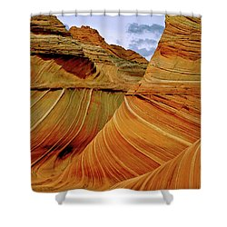 Petrified Sand Dunes The Wave Shower Curtain by Ed  Riche