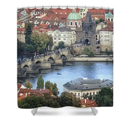 Petrin View Shower Curtain by Joan Carroll
