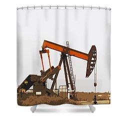 Petroleum Pumping Unit Shower Curtain